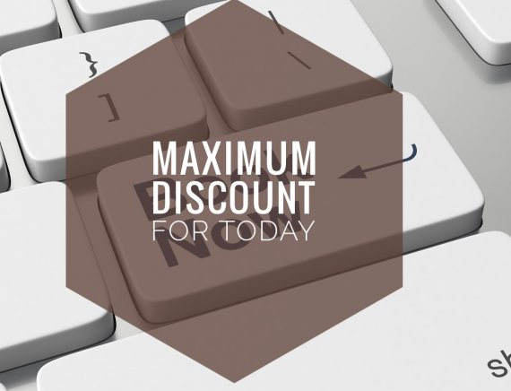 Maximum discount for today. Last-minute booking (ON THE DAY OF ARRIVAL)